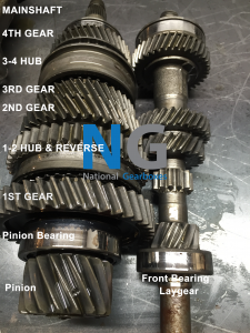 Peugeot 206 laygear & Main shaft with gears labelled ma type